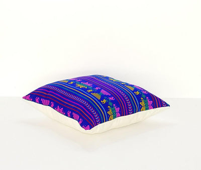 Mexican Pillow Cover - Colorful Pillow Cover, Blue Mexican Pillow, Pillow Case Aztec Boho, Fiesta Decoration,