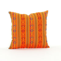Mexican Pillow Cover - Colorful Pillow Cover, Orange Mexican Pillow, Pillow Case Aztec Boho, Fiesta Decoration,