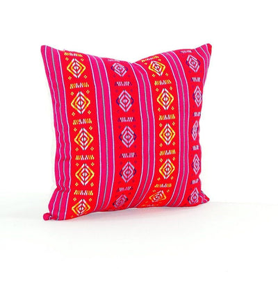Colorful Pillow Cover Red Mexican Pillow Embroidered