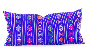 Mexican Pillow Cover - Colorful Pillow Cover, Royal Blue Mexican Pillow, Pillow Case Aztec Boho, Fiesta Decoration,