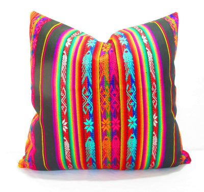 Mexican Pillow Cover - Mexican Pillow Cover, 20 Inch Tribal Pillows, Aztec Home Decor Available In 4 Colors!