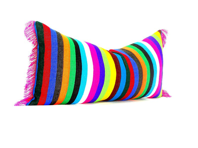 Mexican Pillow Cover - Mexican Pillow Covers 14x28, Funky Mexico Blanket Fabric Pillow,  Tribal Aztec Pillowcase Sham Multicolor Pillows, 14X28E1