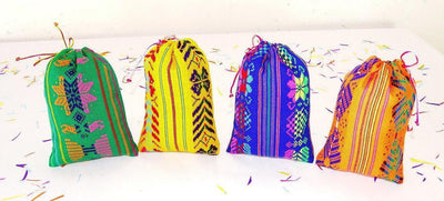Mexican Pillow Cover - Party Favor Bags 5 Count, Gift Bags Drawstring,bags For Wedding , Tribal Bags Cloth , Party Favor Bags 6x9 FREE CONFETTI