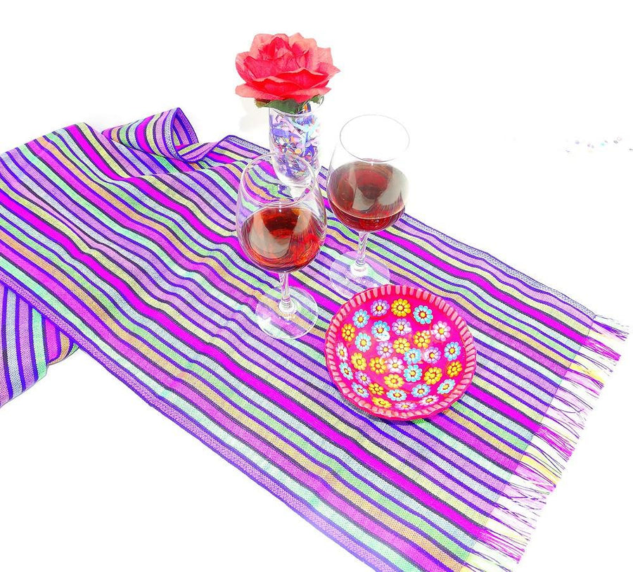 Mexico Table Runners - made from colorful tribal and striped Mexican ...