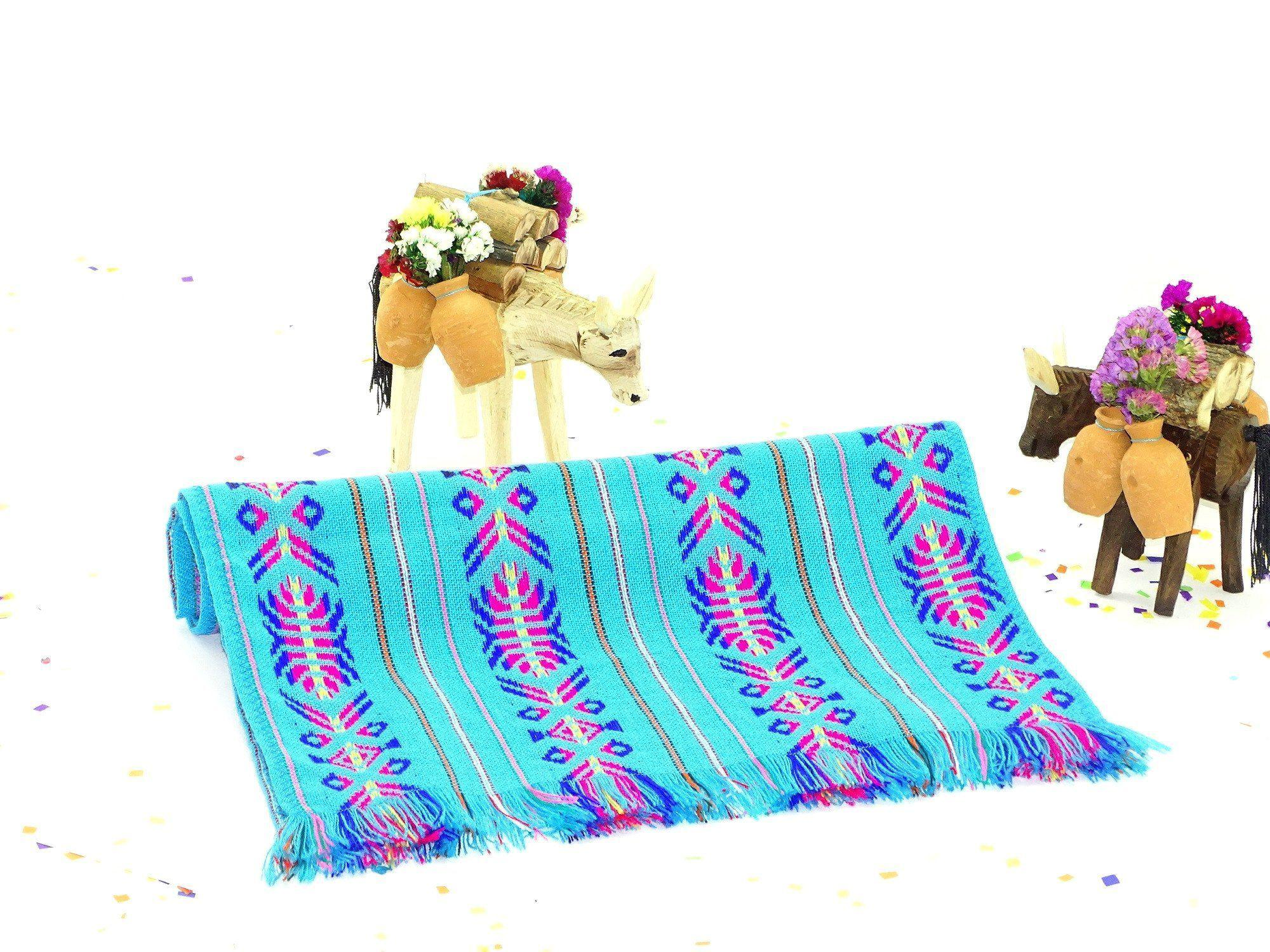 Mexican Dinner Party Decorating Ideas Part - 49: Mexican Table Runner - Bohemian Chic, Mexican Dinner Party Decorations,  Mexican Woven Fabric,
