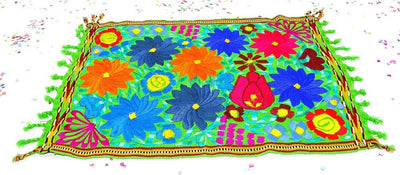 Mexican Table Runner - Engagement Party, Fiesta Decoration, Cinco De Mayo, Center Piece, Taco Party, Mexican Table Decorations.