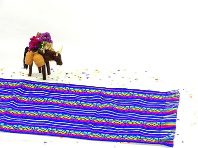Mexican Table Runner - Ethnic Fabric, Mexican Woven Fabric, Mexican Dinner Party, Traditional Mexican Fabric, Bohemian Fabric, Quinceanera Decor, Mexican Table Runner, Fiesta Party Decor.