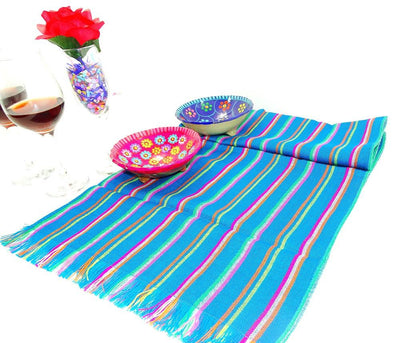 Mexican Table Runner - Mexican Table Runner, Fiesta Party Decor, Tela Mexicana, Mexican Table Decorations, Mexican Themed Wedding, Boho Fabric, Mexican Woven Fabric.