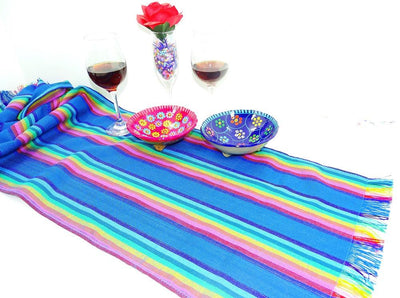 Mexican Table Runner - Mexican Table Runner, Fiesta Party Decor, Tela Mexicana, Mexican Table Decorations, Mexican Themed Wedding, Boho Fabric, Taco Fiesta Decorations.