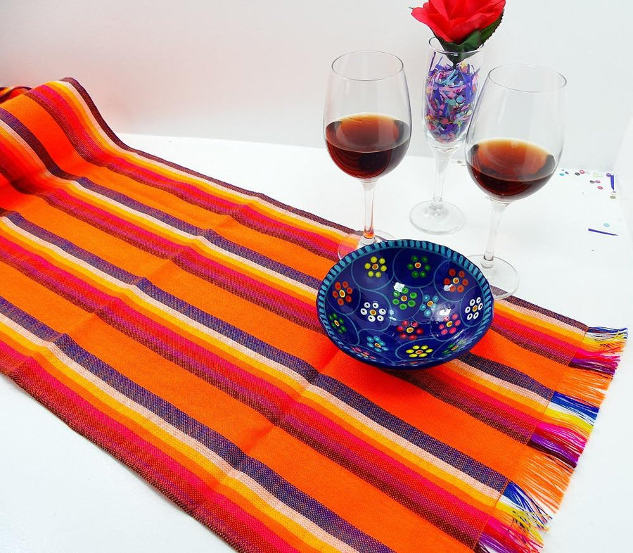 Elegant Mexican Table Runner   Mexican Table Runner, Tela Mexicana, Mexican Fiesta  Party, Aztec