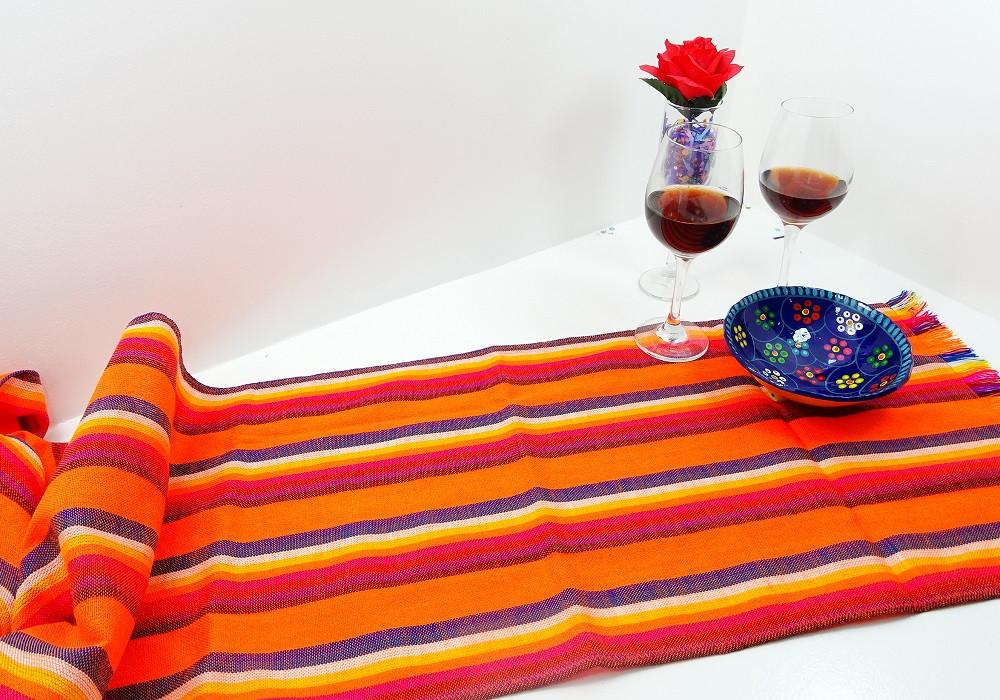 Mexican Table Runner Mexican Wedding Decorations Orange Stripes