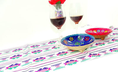 Mexican Table Runner - Mexican Table Runner, Tribal Fabric, Fiesta Engagement Party, Taco Tuesday Decorations, Ethnic Fabric, Mexican Woven Fabric, Mexican Dinner Party.