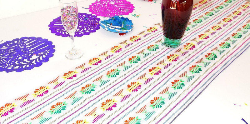 Mexico Table Runner, Cinco De Mayo Party Decorations TRC42