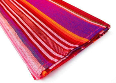 Mexican Table Runner - RED Mexican Table Runner, Serape Fabric Table Cloth Mexico, Mexican Decorations, Fiesta Party