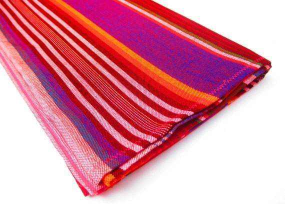 Cinco De Mayo Serape Red Mexican Table Runner 14x36