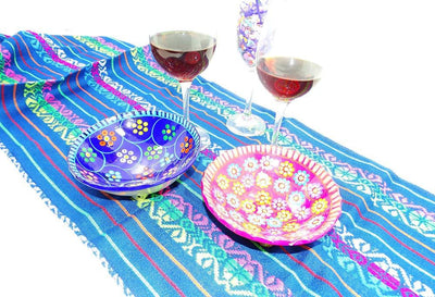 Mexican Table Runner - Traditional Mexican Fabric, Bohemian Fabric, Mexican Table Runner, Fiesta Party Decor, Tela Mexicana, Mexican Table Decorations.
