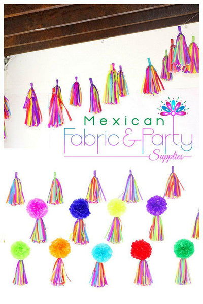 Mexican Weddings - Balloon Tassels, Ballon Tails, Mexican Fiesta Party Decorations TAS 05