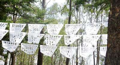 Mexican Weddings - Mexican Wedding Banner, Papel Picado Banner, Fiesta Decorations, English Words Groom And Bride