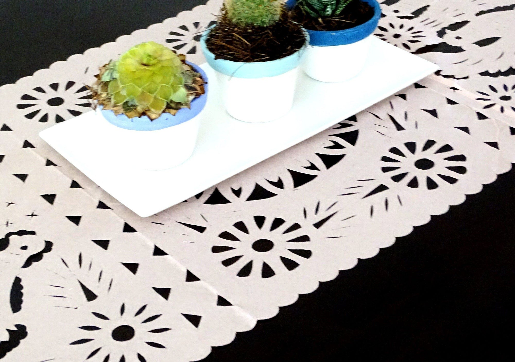 Papel Picado Mexican Table Runner Mexican Theme Party Decorations