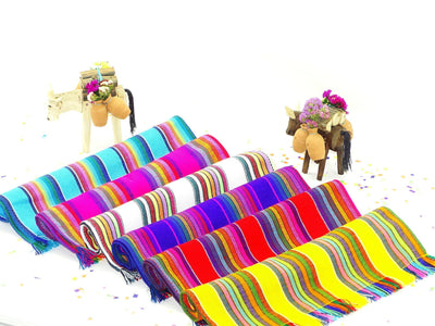 Mexican Fiesta Decorations - Set of 12 Mexican Woven Cloth Napkins/Placemats
