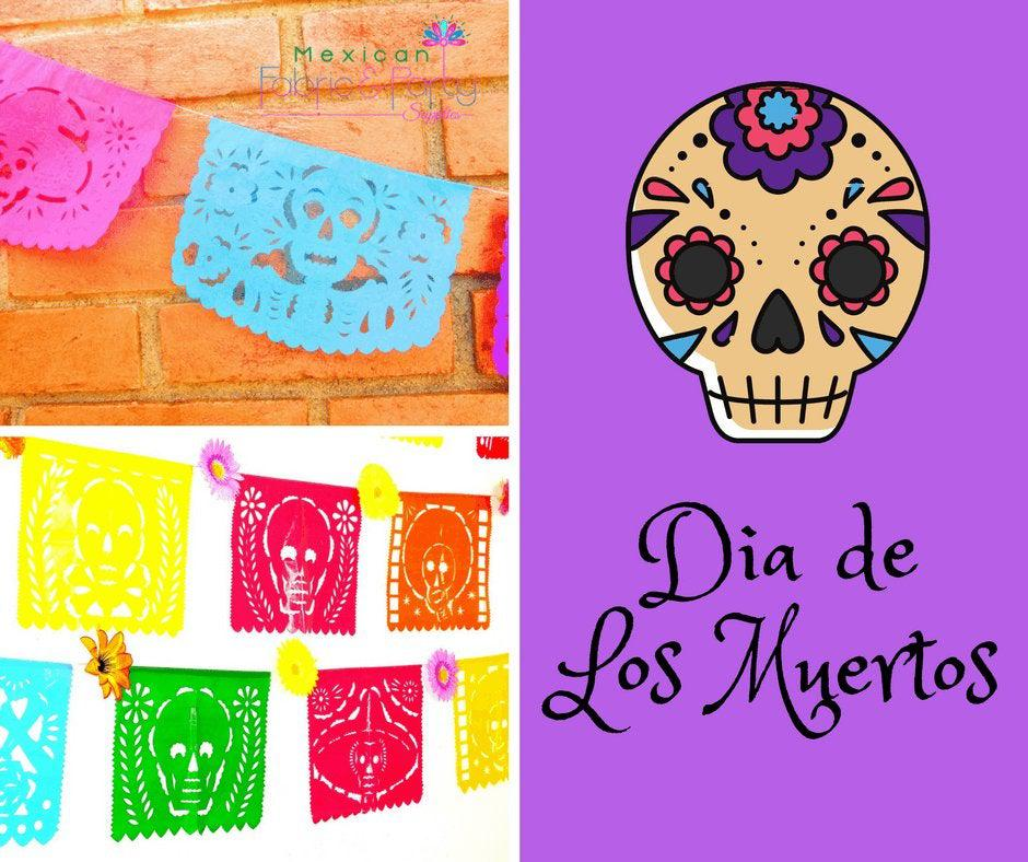 Papel Picado Banners - Day Of The Dead Banner, MULTICOLOR LARGE 16ft, Papel Picado Banner, Mexico Party Decoration,Cinco De Mayo