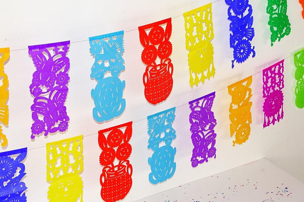 Papel Picado Banners - Mexican Party Decorations, Fiesta Party Banners, Papel Picado Paper Banners