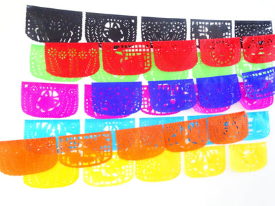 Papel Picado Banners - Papel Picado Banners, 8 Pack Banners, Paper Mexican Banner 96 Feet Long, Engagement Banner, Fiesta Baby Shower, Birthday Banners, Weddings
