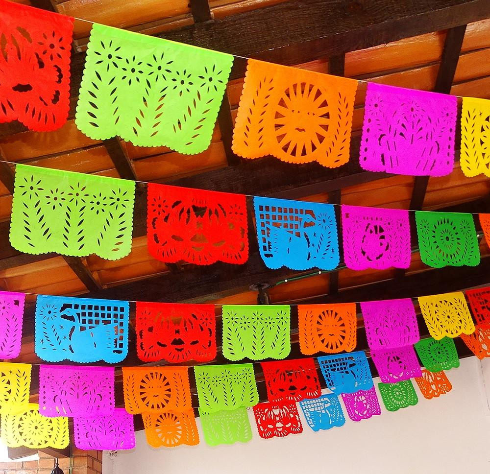 Cinco de mayo decorations papel picado banners over 50ft long ws100 mexfabricsupplies - Cinco de mayo party decoration ideas ...