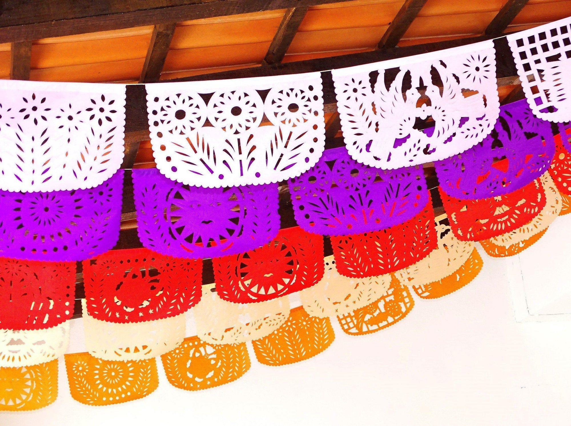 Fiesta Bridal Shower Banner 5 Pack Banners Papel Picado Decor Fiesta Decorations Garland Mexican Party Supplies 60 Feet Long Fiesta Party Banner