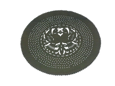 Papel Picado - Mexican Black Paper Place Mat, Fiesta Decoration, D728