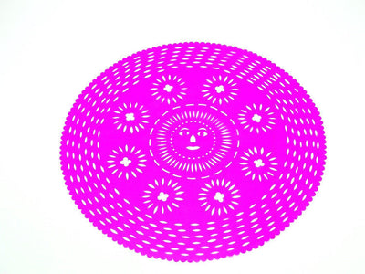 Papel Picado - Mexican Pink Paper Place Mat, Fiesta Decoration, D380
