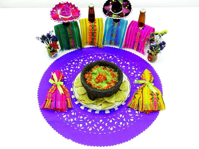 Papel Picado - Mexican Purple Paper Place Mats, Fiesta Decoration, D222