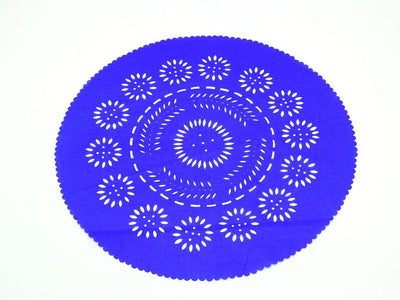 Papel Picado - Mexican Royal Blue Paper Place Mats, Fiesta Decoration, D221