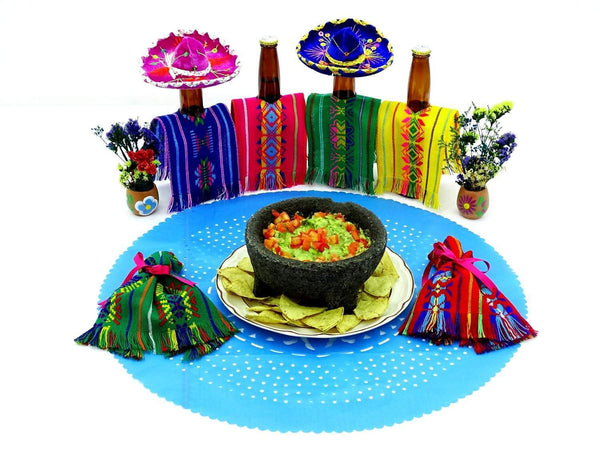 Papel Picado - Mexican Turqouise Paper Place Mat, Fiesta Decoration, D382