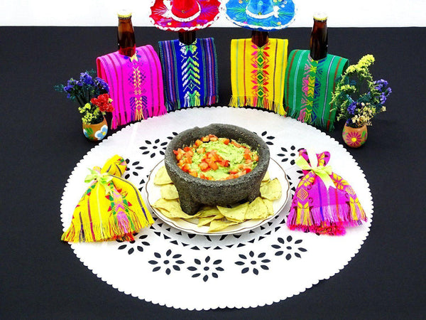 Papel Picado - Mexican White Paper Place Mats, Fiesta Decoration,