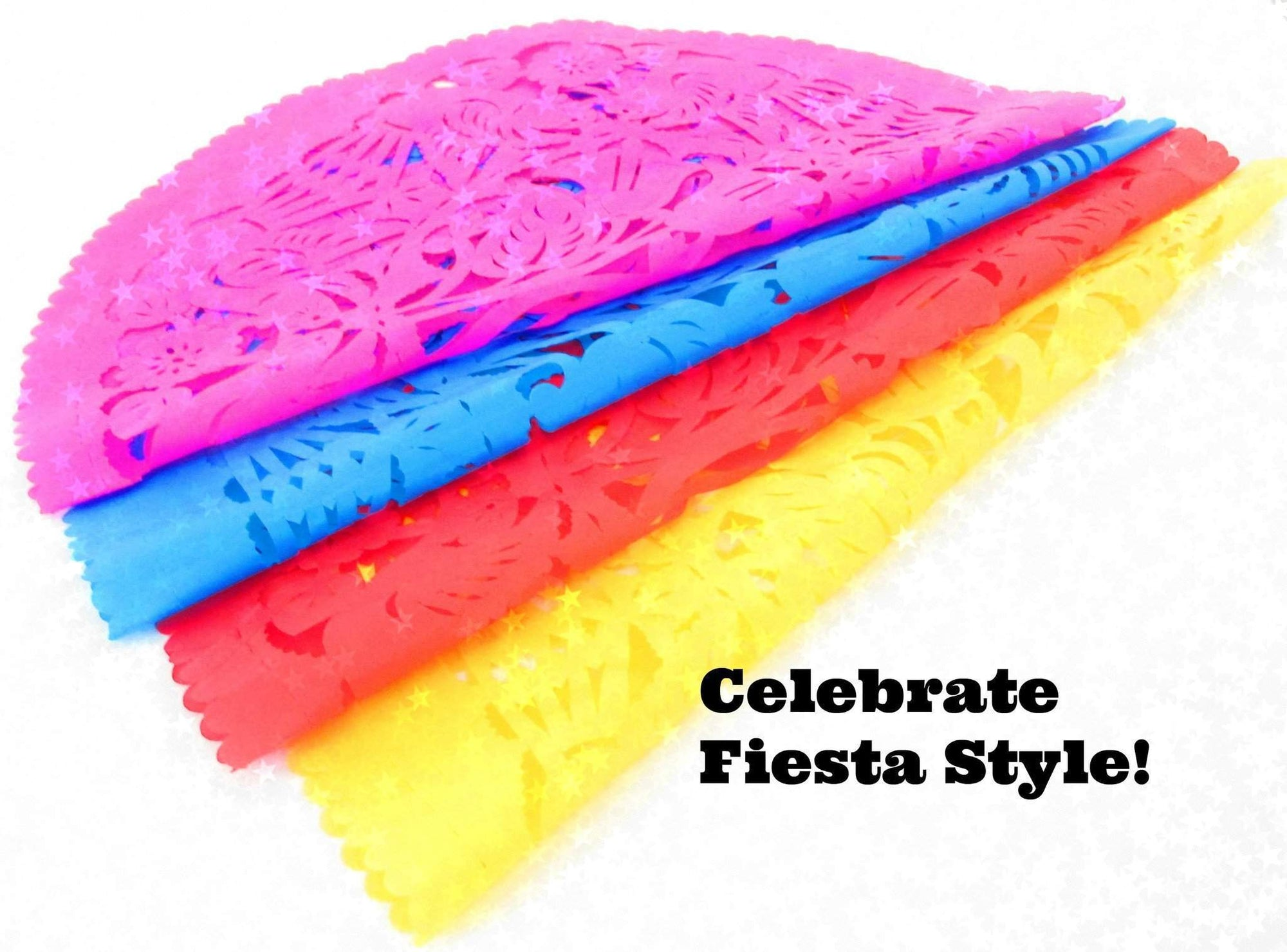 Papel Picado - Papel Picado Round Paper Placemats 8 Pack
