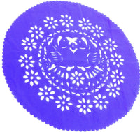 Papel Picado Round paper placemats 8 pack