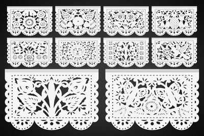 NEW! High Quality Mexican Papel Picado White WS93