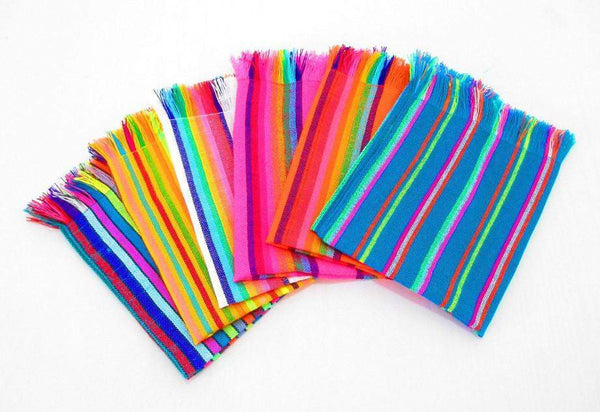 Mexican Woven Cloth Napkins Fiesta Party Decorations