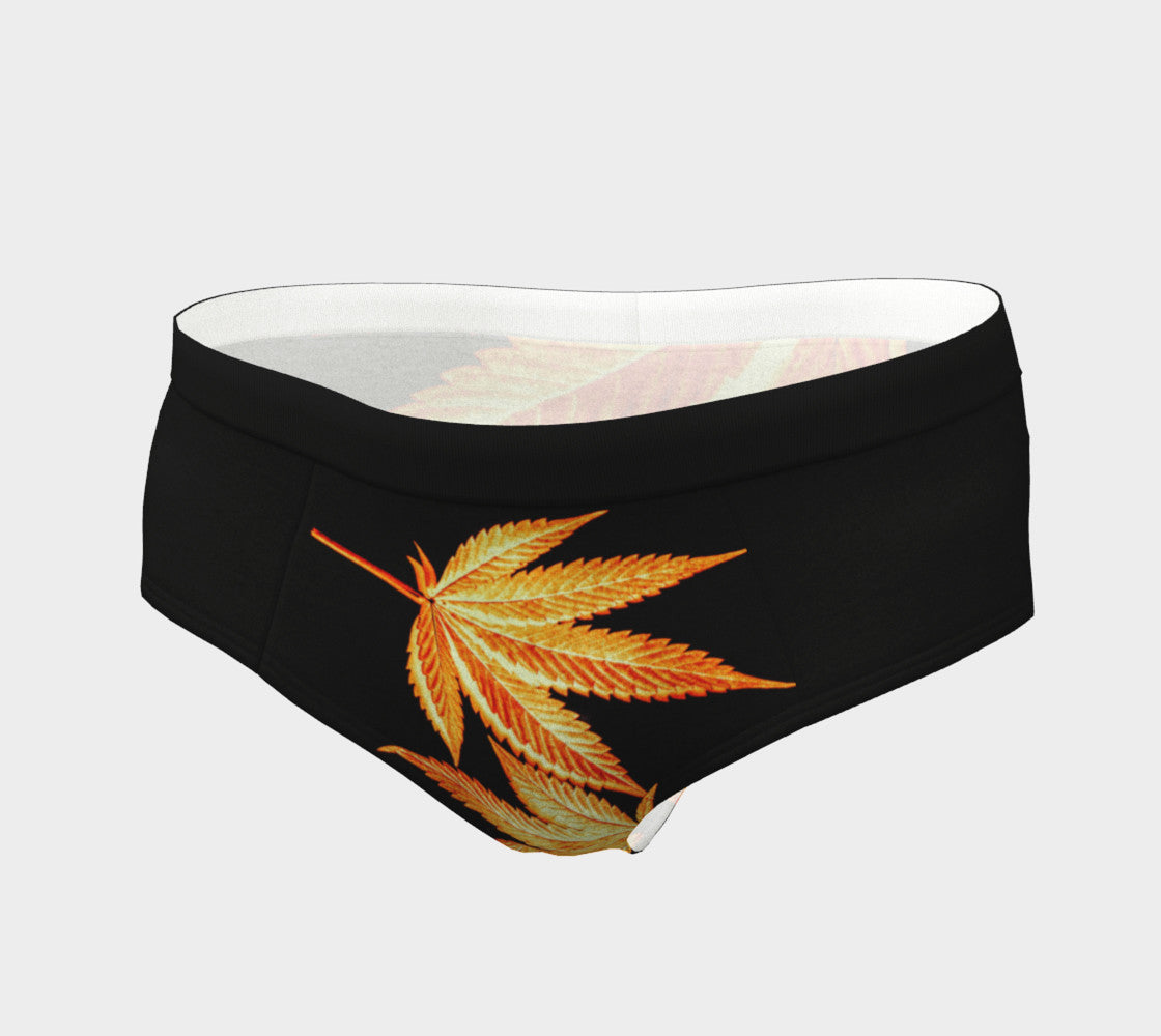 BLACK & GOLD CANNA LEAF // CHEEKY BRIEFS (WOMEN'S)