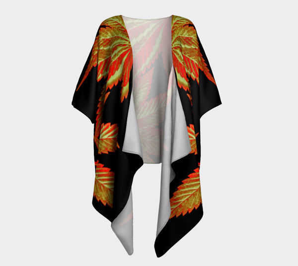 OCTOBER GOLD CANNA LEAF // DRAPED KIMONO