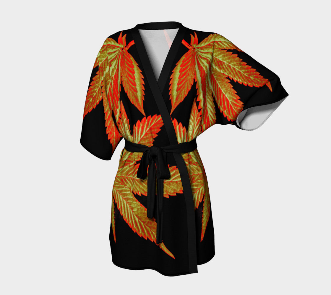 OCTOBER GOLD CANNA LEAF // KIMONO ROBE