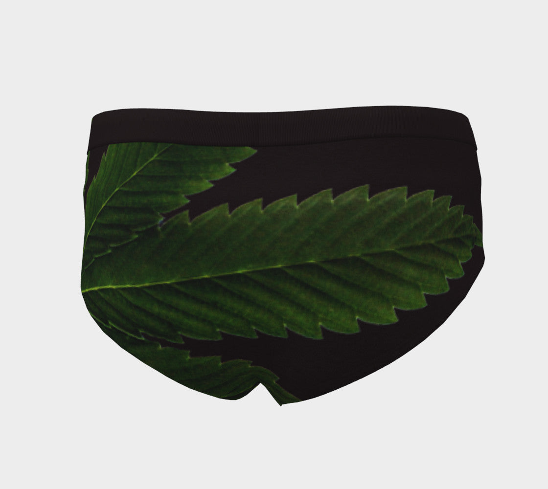 EMERALD GREEN & COFFEE CANNA LEAF  // CHEEKY BRIEFS (WOMEN'S)