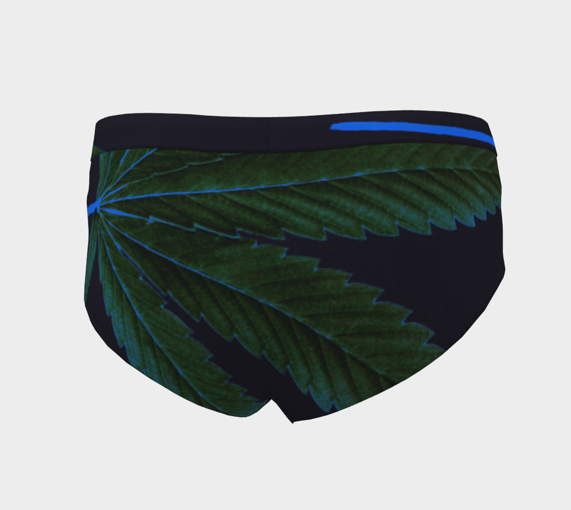 MIDNIGHT CANNA LEAF  // CHEEKY BRIEFS (WOMEN'S)