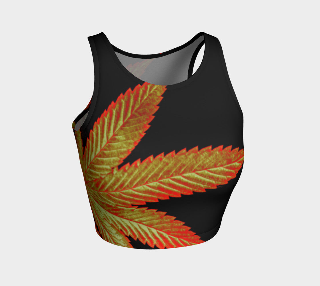 OCTOBER GOLD CANNA LEAF // ATHLETIC CROP TOP