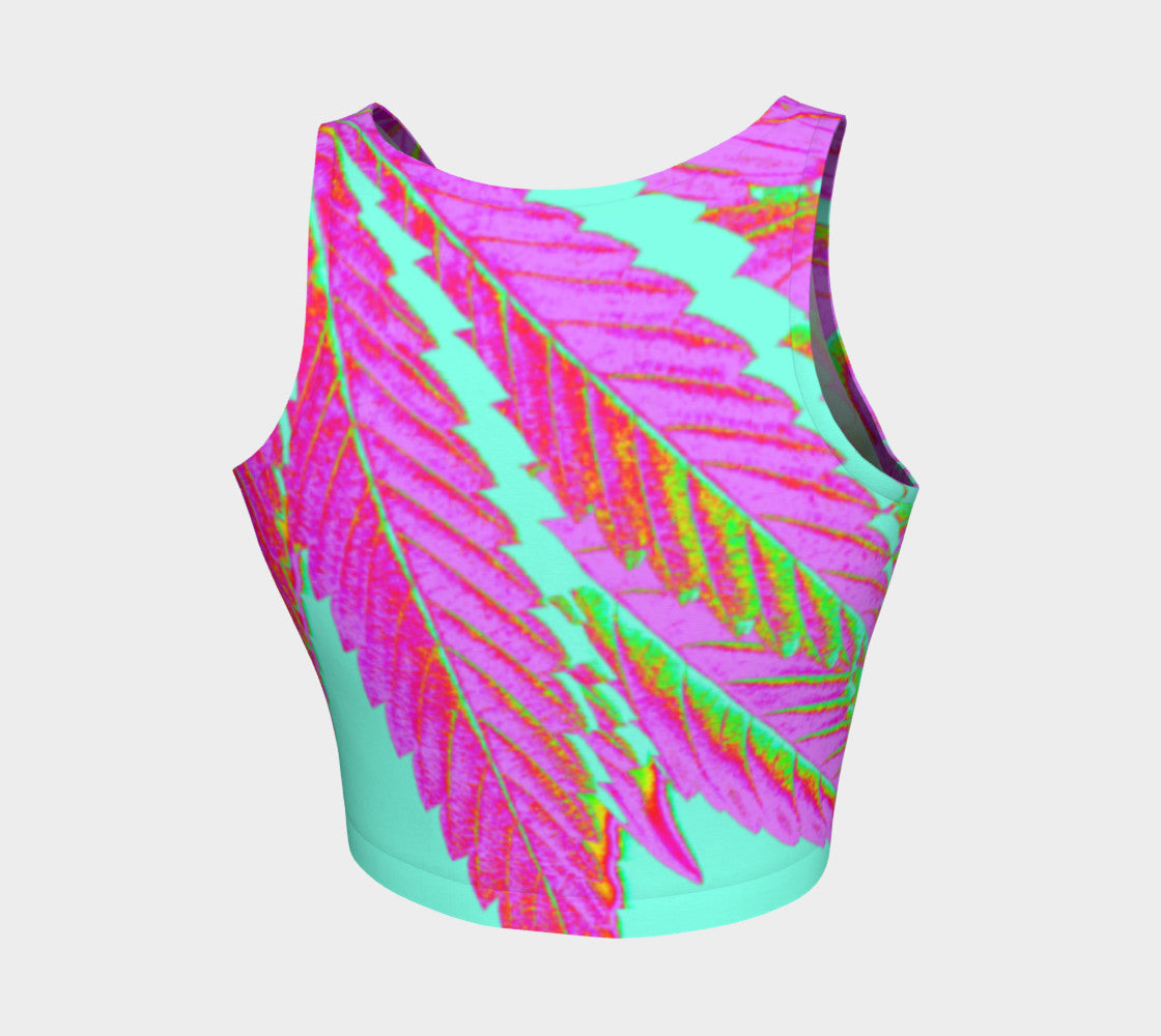 TROPI-CANNA LEAF // ATHLETIC CROP TOP