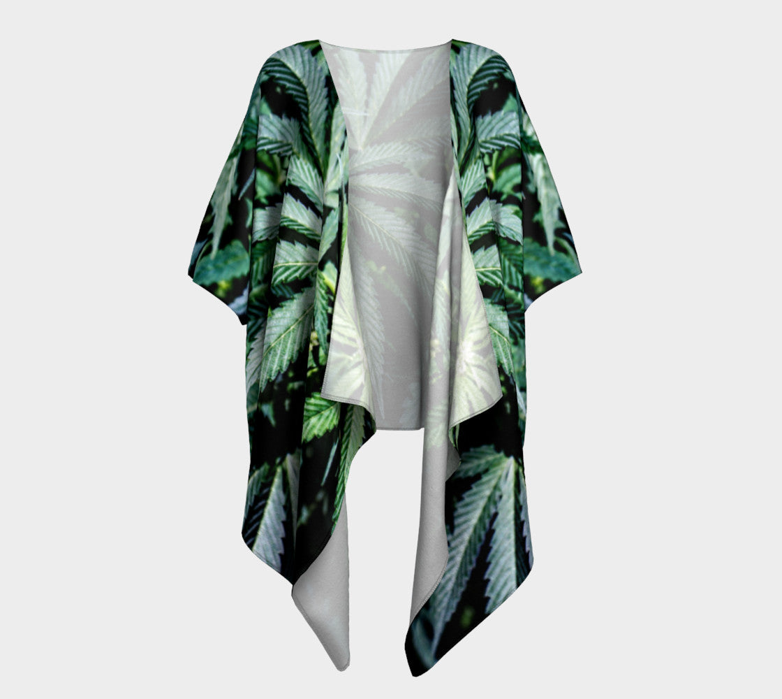 JUNGLE CANNA LEAF // DRAPED KIMONO
