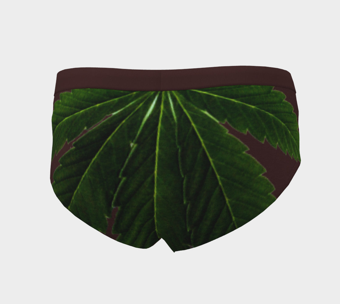 EMERALD GREEN & OXBLOOD CANNA LEAF // CHEEKY BRIEFS (WOMEN'S)