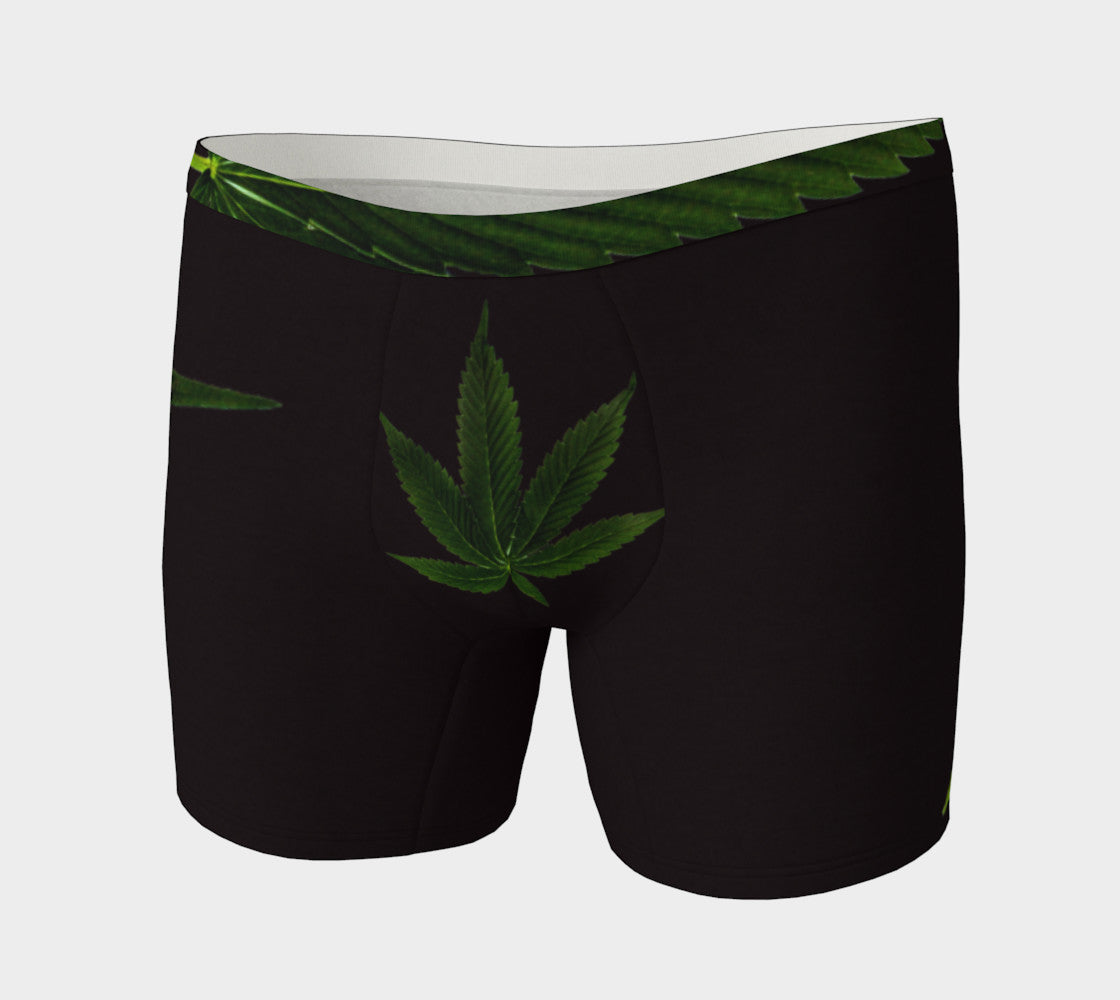 EMERALD GREEN & COFFEE CANNA LEAF // BOXER BRIEFS