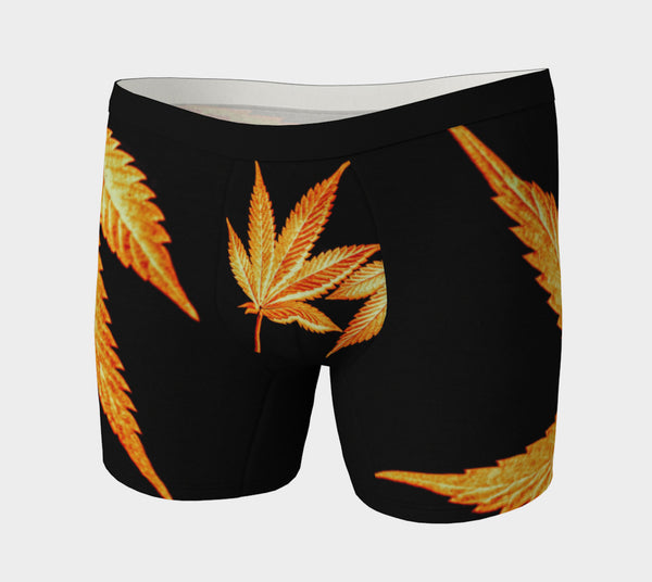 BLACK & GOLD CANNA LEAF // BOXER BRIEFS